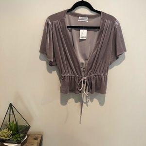 •NWT Urban Outfitters Velvet Jacket •